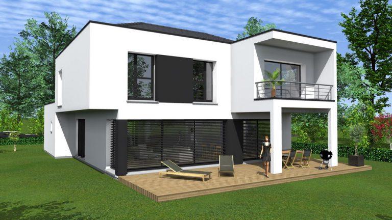 Maison à toit plat 44