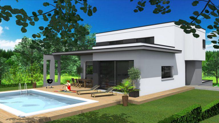 Maison à toit plat